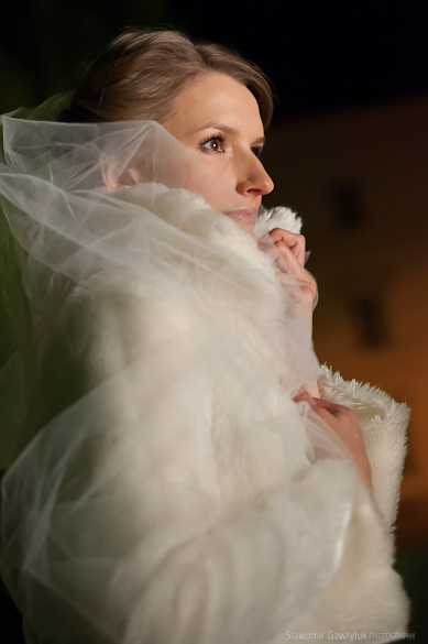nocny plener ślubny